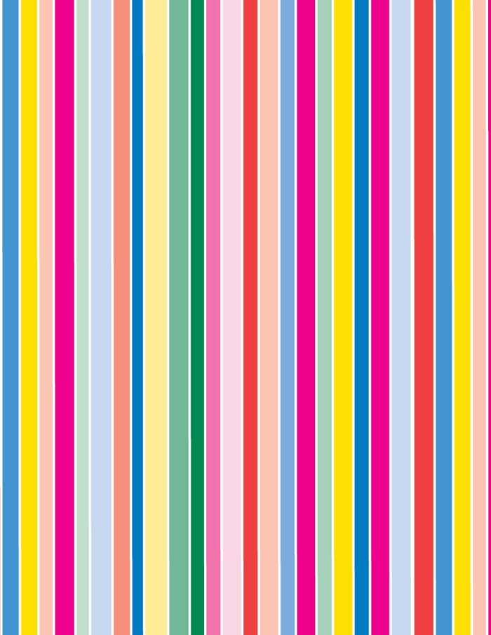 Stripes Amp Lines Colourful Stripes Primary 18gsm Tissue