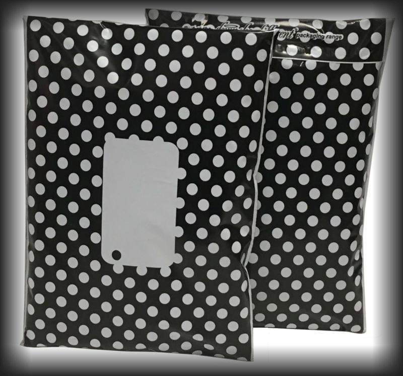 Black Divinely Different Polka Dot Mailing Bags