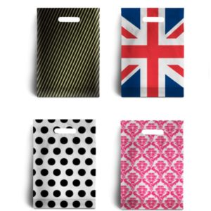 Patterned Plastic Carrier Bags