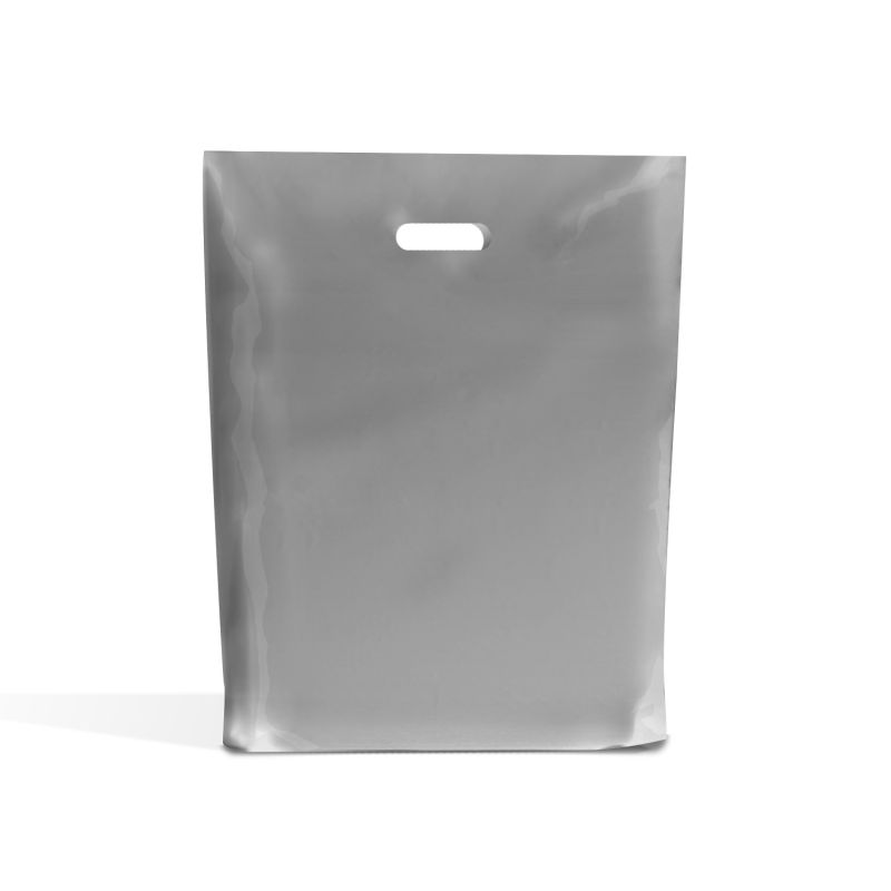 Silver Classic Plastic Carrier Bags [Standard Grade] 10