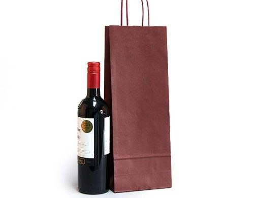 Twisted Handle Paper Bottle Bags