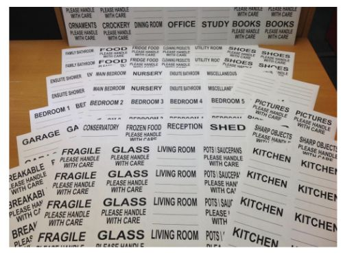 House Moving Box Labels