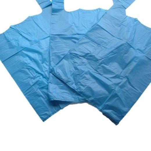Blue Plastic Vest Carrier Bags